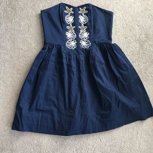 Lilly Pulitzer - navy blue size 8 strapless dress